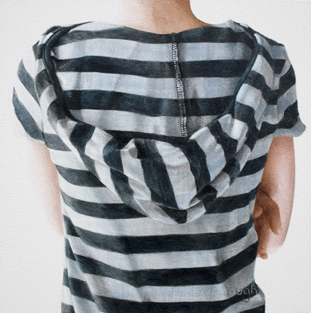 Chambray striped hood b